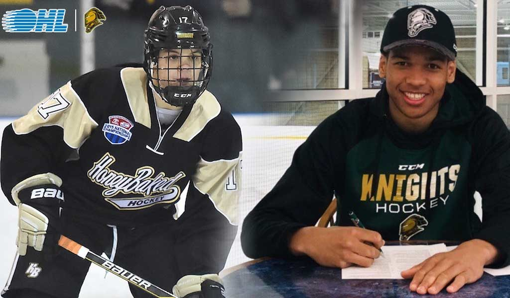 Gruden And Montgomery Commit To Knights Ontario Hockey League