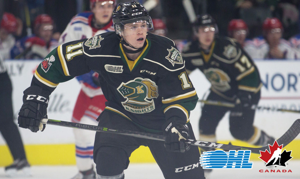 Knights Mcmichael Added To Canada S World Junior Development Camp
