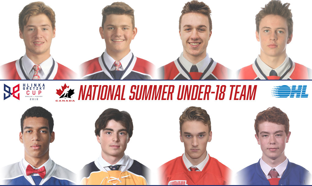 Eight OHL Players to Represent Canada at 2019 Hlinka Gretzky