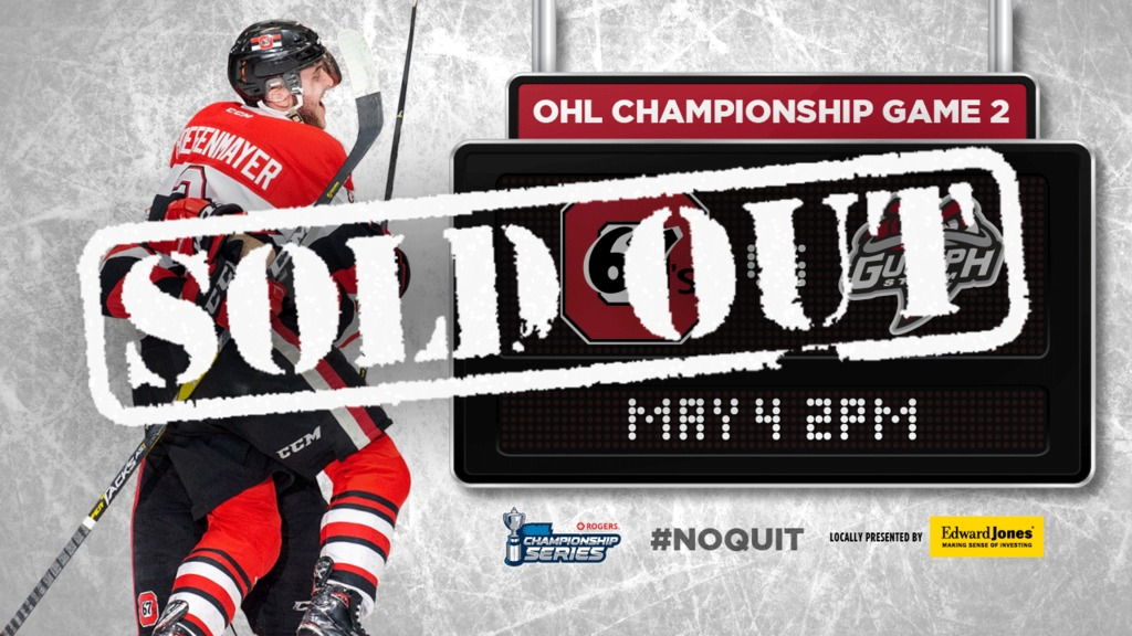 Today S Game Is Sold Out Ottawa 67s