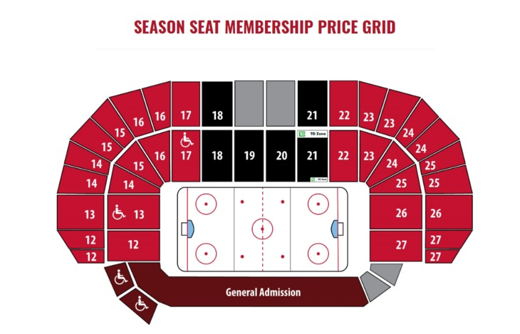 Season Seat Membership Price Grid