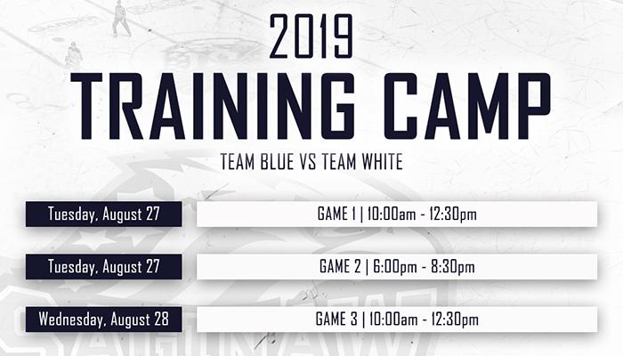 Spirit announce details for 2019 Training Camp - Saginaw Spirit