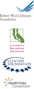 Robert Wood Johnson Foundation, California HealthCare Foundation, Clinton Foundation, Health Data Consortium