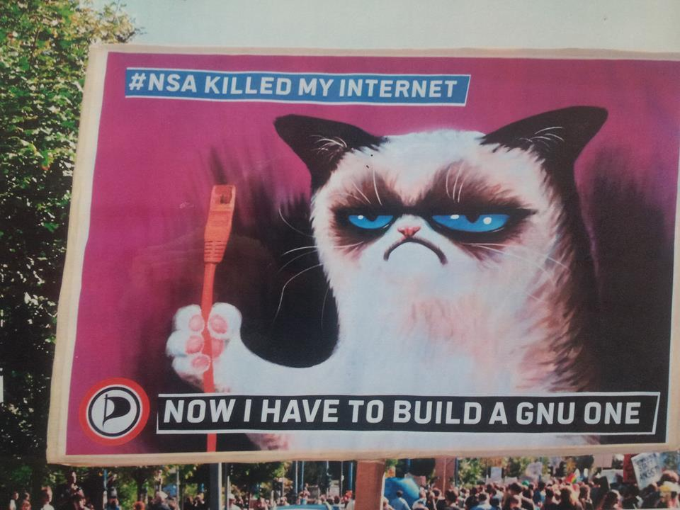 Protesters in Berlin highlight the need for new internets
