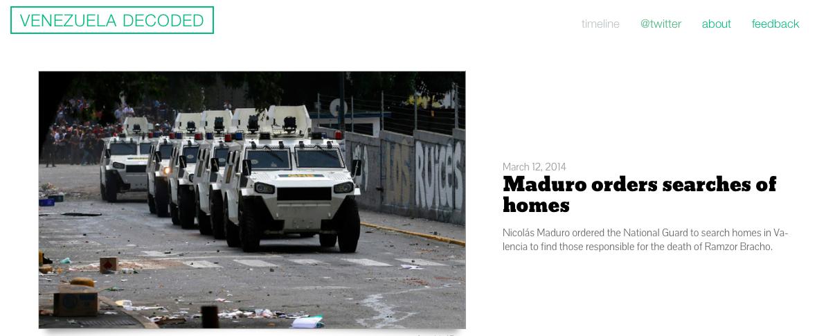 Venezuela decoded homepage