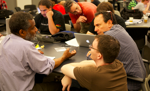Thumbnail : Participants at the PDF Applied 2012 hackathon during Personal Democracy Forum.