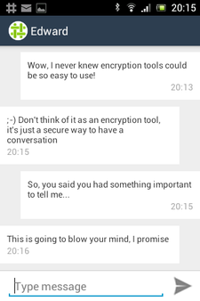 Screenshot showing a private conversation.