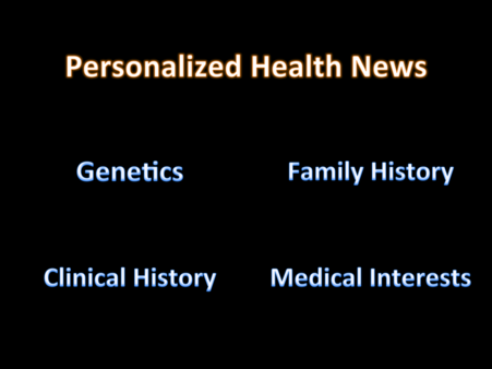 Thumbnail : Personalize your health news based on your genetics, family history & medical interests.