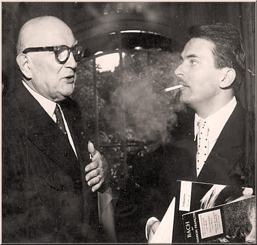 Eugene Bigot (L) with Pianist Samson Francois (R). Bigot was a major influence to many.