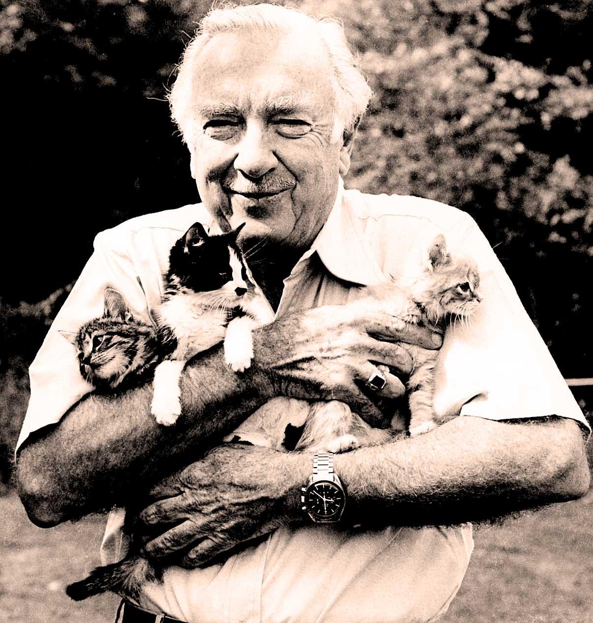 Walter Cronkite and kittens