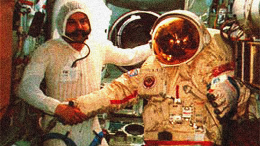 MIR Space Station crew.