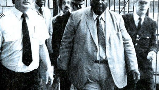 Joshua Nkomo arrives in London