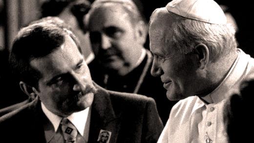 Pope John Paul II - Lech Walesa