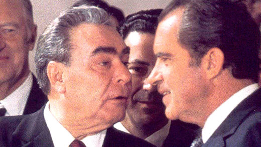 Nixon and Brezhnev 1974