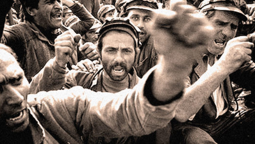 Miners Strike - Bucharest - 1999