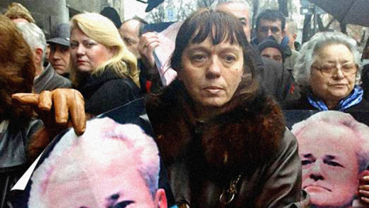 Supporters of Slobodan Milosevic