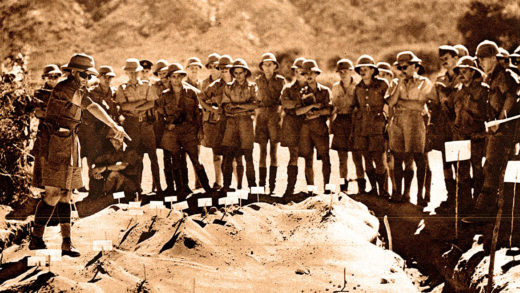 British Army planning assault