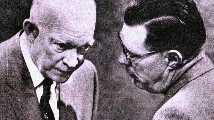 Eisenhower with Press Sec. Hagarty - 1959