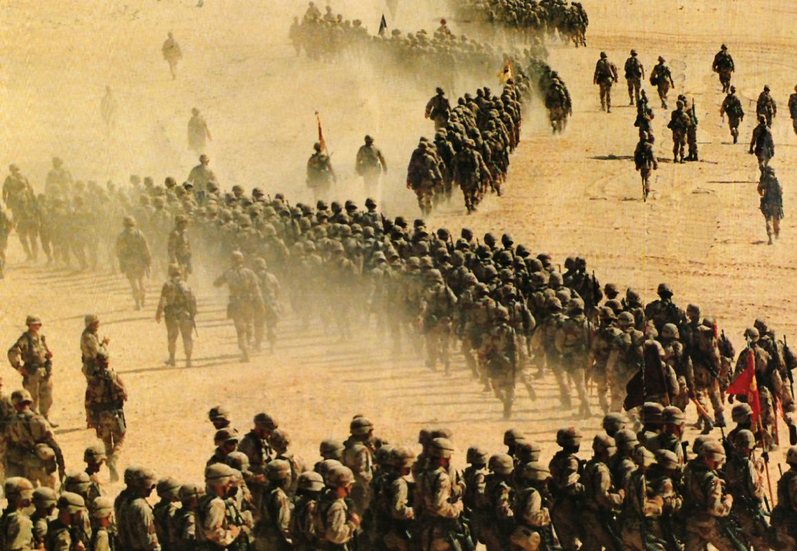 Desert Storm prelude 1990