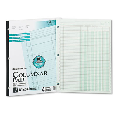 Wilson Jones Column Write Side Bound Columnar Pad