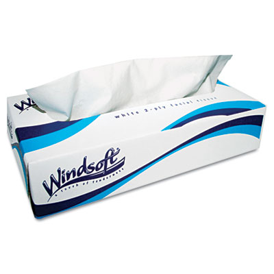 Windsoft White Facial Tissue