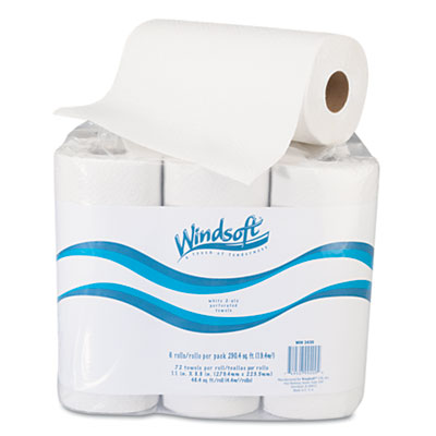 Windsoft Perforated Paper Towel Rolls