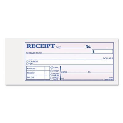 Adams Receipt Book