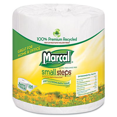 Marcal Small Steps 100% Premium Recycled Two-Ply Bathroom Tissue