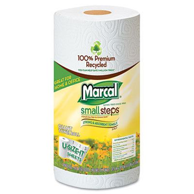 Marcal Small Steps 100% Premium Recycled Giant Roll Towels Roll Out Case