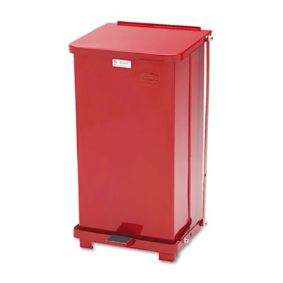 Rubbermaid Commercial Defenders Heavy-Duty Steel Step Can