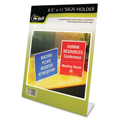 NuDell Clear Plastic Sign Holders