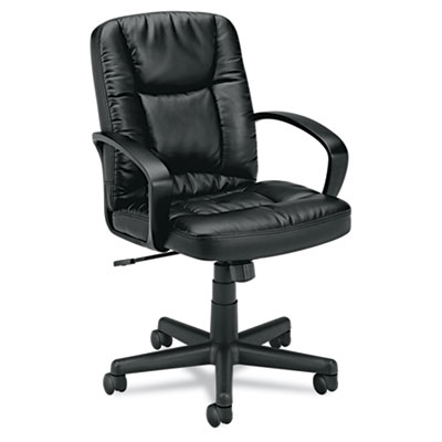 basyx VL171 Executive Mid-Back Leather Chair