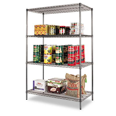 Alera Black Anthracite Wire Shelving Kit