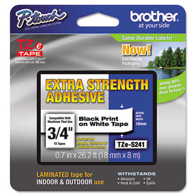 Brother P-Touch TZe Series Extra-Strength Adhesive Laminated Labeling Tape
