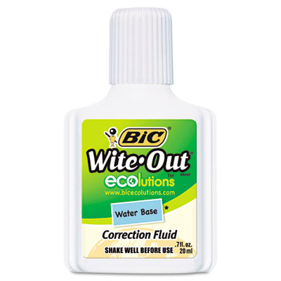 BIC Wite-Out Brand Ecolutions Water Base Correction Fluid