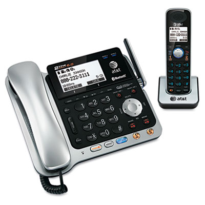 AT&T TL86109 Two-Line DECT 6.0 Phone System with Bluetooth and Digital Answering System