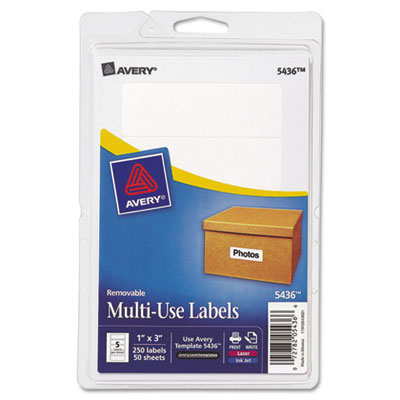 Avery Multi-Use Labels on 4