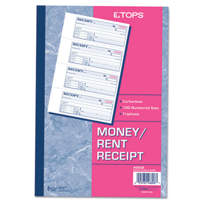 TOPS Money and Rent Receipt Books