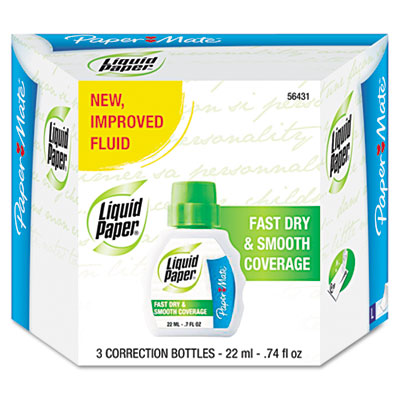 Paper Mate Liquid Paper Fast Dry and Smooth Coverage Correction Fluid