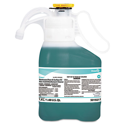 Diversey Crew Concentrated Restroom Floor & Surface Non-Acid Disinfectant Cleaner