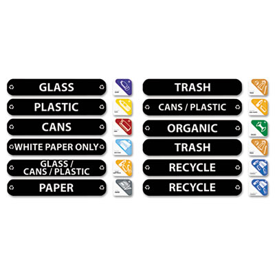Rubbermaid Commercial Recycle Label Kit