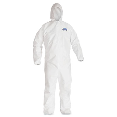 KIMBERLY-CLARK PROFESSIONAL* KLEENGUARD* A40 Elastic-Cuff Hooded Coveralls