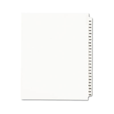 Avery Preprinted Legal Index Tab Dividers with Black and White Tabs