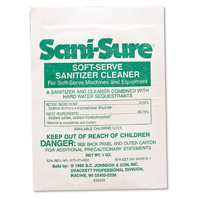 Diversey Sani-Sure Soft Serve Sanitizer & Cleaner
