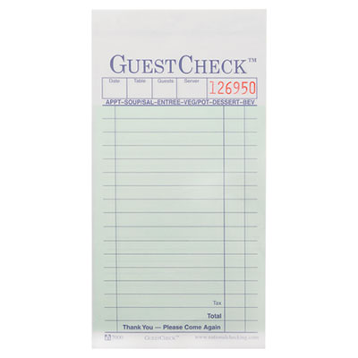 National Checking Company Carbonless GuestChecks