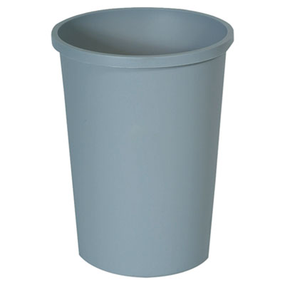 Rubbermaid Commercial Untouchable Large Plastic Round Waste Receptacle