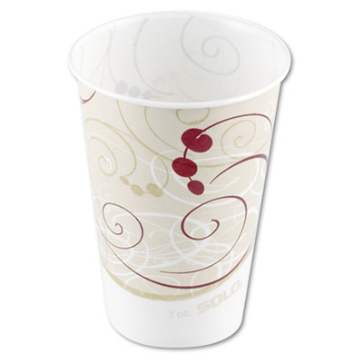 SOLO Cup Company Symphony Design Wax-Coated Paper Cold Cup