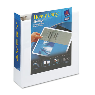 Avery Heavy Duty Non Stick View Binder with Locking One Touch Slant Rings