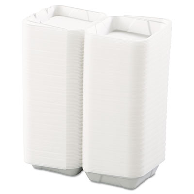 Boardwalk Snap-it Foam Hinged Lid Carryout Containers