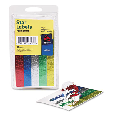 Avery Colored Foil Stars